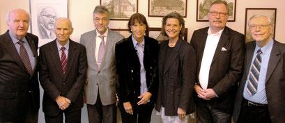 Gesamter Vorstand: v.l. Jürgen Senger, Joachim Brückner, Rainer Rühle, Cornelia Ike, Ann-Katrin Martiensen, Rainer Ortlepp, Dr. Ralph Wittchen. - Abwesend: Anita Harmssen