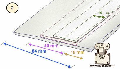 fabrication d'une ceinture bordure malle