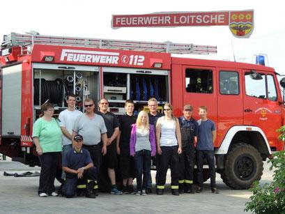 Eine kleine Gruppe der Feuerwehrkameraden begrüßte uns