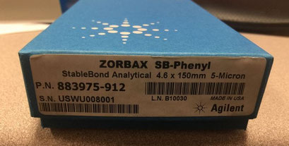 Agilent Zorbax SB Phenyl, 4.6 x 150mm Säule/ Column für die Chromatographie/ HPLC/ Chemie