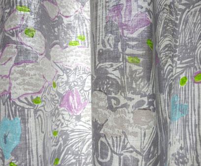 Deko-Vorhang Meadow grau von JAB