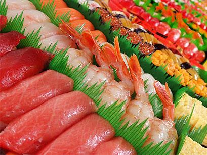 謝恩会 歓送迎会 寿司 出前