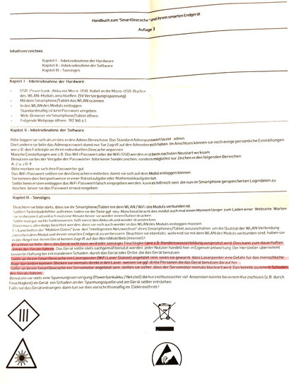 SmartGeocache Bedienungsanleitung Auflage 3