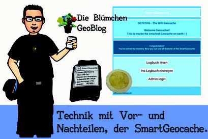 Titelbild Blogbeitrag Technik mit Vor- und Nachteilen, der SmartGeocache