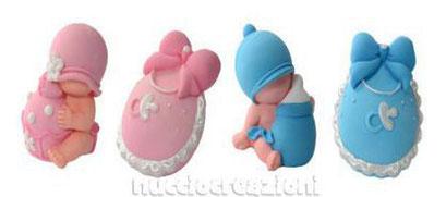 kit nascita baby in pasta di zucchero