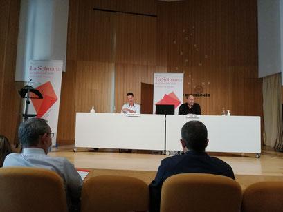 D'esquerra a dreta: Joan Carles Girbés i Joan Sala