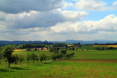 Blick in Richtung Ulbersdorf