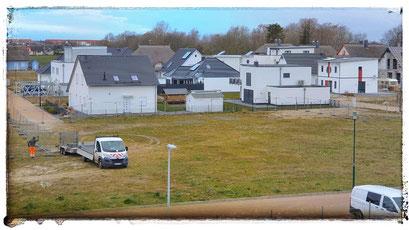 02.04.2020 - Baustellenvorbereitung für die neue Mehrzweckhalle in Glowe am ehemaligen Rügen Radio
