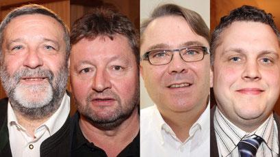 Von links nach rechts: Bgm. Josef Spiegl (Liste Spiegl), Stadtrat Leopold Meiringer (FL), Gemeinderat Roman Deyssig (FL), Gemeinderat Ludwig Schneider (Liste Spiegl)
