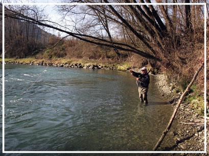 mauro mazzo; pesca a filo; ninfa col filo; pesca a mosca; flyfishing