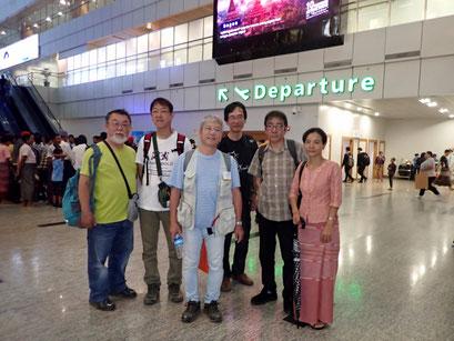 ヤンゴンの空港にて(10月29日)。