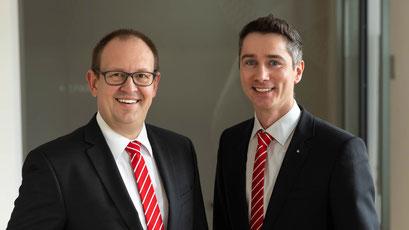 v.l.n.r.: Die zwei neuen Vorstandsmitglieder Markus Bayer und Jürgen Käsmayr freuen  sich auf die neue Herausforderung.