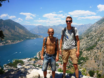 Hiking to Kotor Castle in Montenegro
