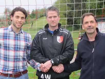 v.l.n.r. Präsident Elias Meier, Wolfgang Arbenz und Sportchef Heinz Wipf