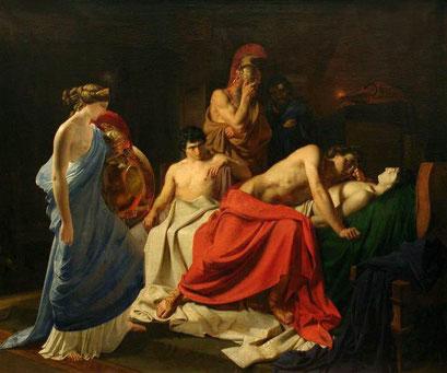 """Nikolaj Ge, """"Achille e il corpo di Patroclo"""" (1835)"""