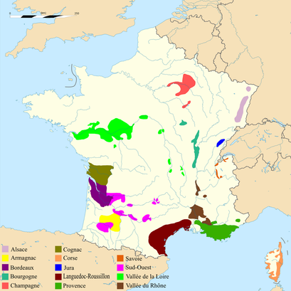 Carte Vignobles Et Vins De France Vallee