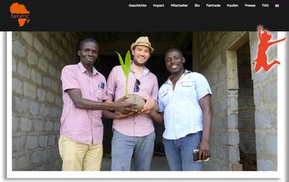 Das Kokospalmen-Projekt von fairafric ist unser Freudensprung der Woche!