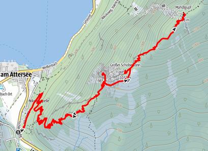 Route von Weißenbach auf den Großen Schoberstein, Kleinen Schoberstein und Mahdlgupf