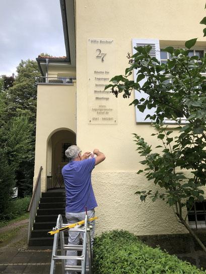 Denkmalplakette des Ministeriums für Wissenschaft und Kunst