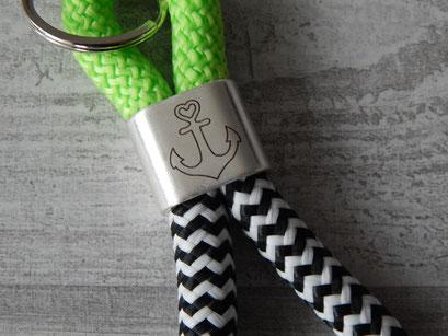 grün / schwarz-weiß Anker