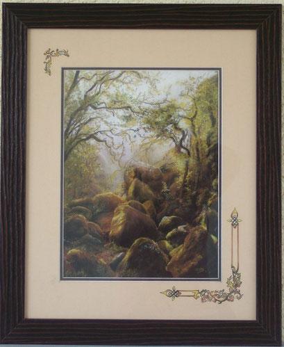 Chaos rocheux en forêt de Huelgoat (Pastel.)
