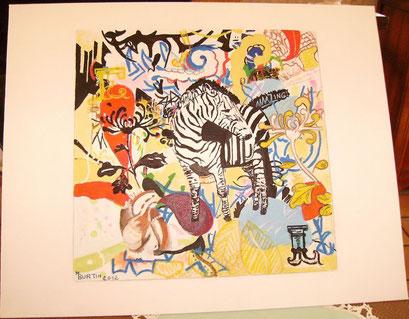 graphiti...sur toile acrylique