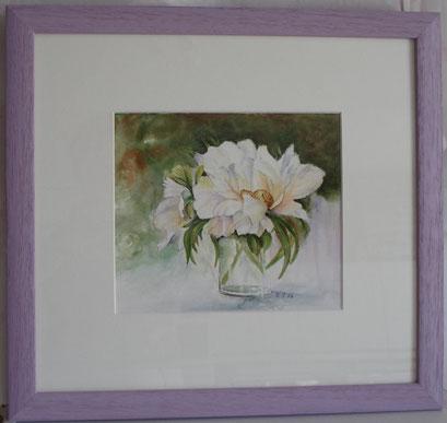 fleurs dans verre