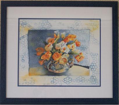 Aquarelle. Bouquet. Interprétation