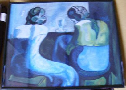 les femmes au bar           Picasso....pastel