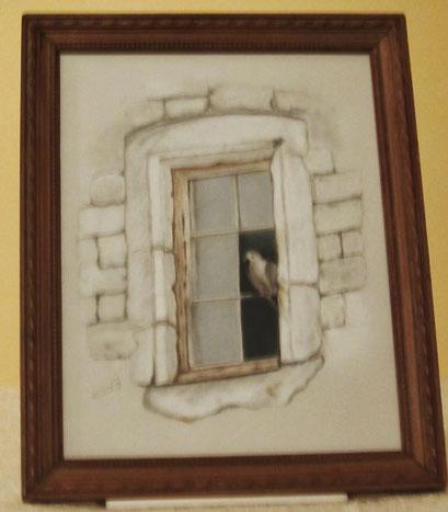 Oiseau à la fenêtre