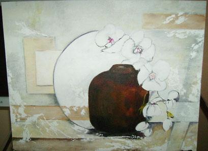 aubergines-orchidées  une copie ....sur toile............... acrylique