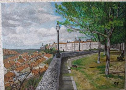 Rempart d'Angoulême, Porte du secours. (acrylique)
