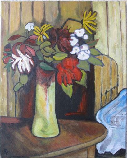 Fleurs au vase (acrylique)