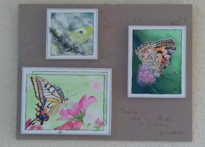 Papillons à l'aquarelle