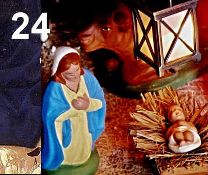 24. Dezember 2020  -  Die Krippe mit Maria