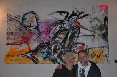 With friend and artist Frank Esposito! photo: Nicole Ponesch ©