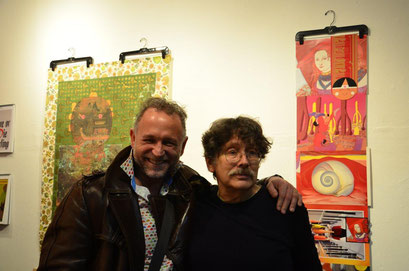 With the artist and friend Jonathan! photo: Nicole Ponesch ©