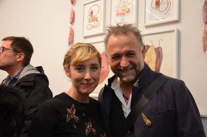 With the artist Dana Sherwood. photo: Nicole Ponesch ©