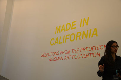Finally works from Frederick R. Weismann Foundation, pieces from Californian artists. photo: Nicole Ponesch ©