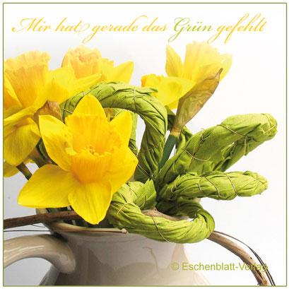 Grün für einen Frühlingsstrauß aus Servietten basteln