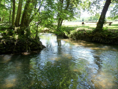 Rivière Couze à Bayac