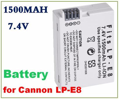 Batterie Pour canon LP-E8 EOS 550D 600D 650D 700D LPE8