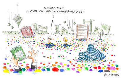 """Cartoon """"Ein Leck"""""""