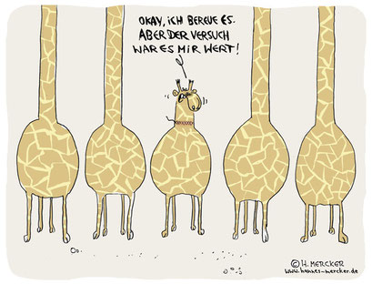 "Cartoon ""Der Versuch"""