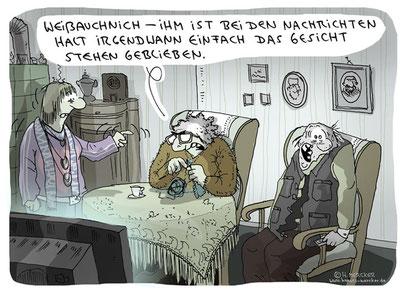 """Cartoon """"Nachrichten"""""""