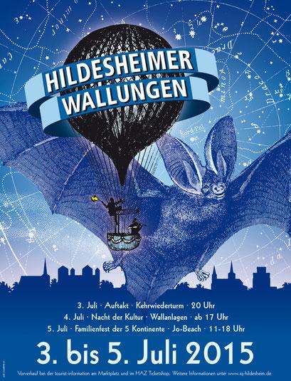 Das Plakat der 4. Wallungen 2015. Gestaltung: Gero Schulze