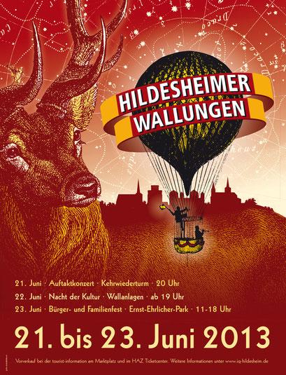 Das Plakat der 3. Wallungen 2013. Gestaltung: Gero Schulze