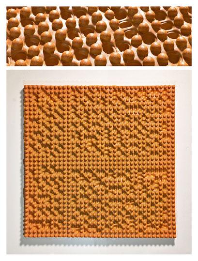 E0BSY17V0 (03) resina epossidica, pigmento, 53x53x5cm, 2017