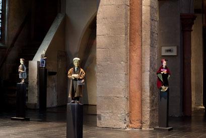 Die Prostituiert, die Marktfrau, Irma Müller-Hermann und Maria Brecht (Foto: Anna C. Wagner – Milieukrippe Lyskirchen)