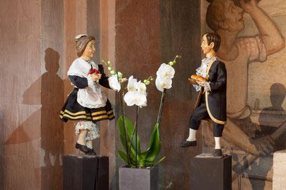 Das Tanzpaar der 'Hilligen Knächte und Mägde' (Foto: Anna C. Wagner – Milieukrippe Lyskirchen)